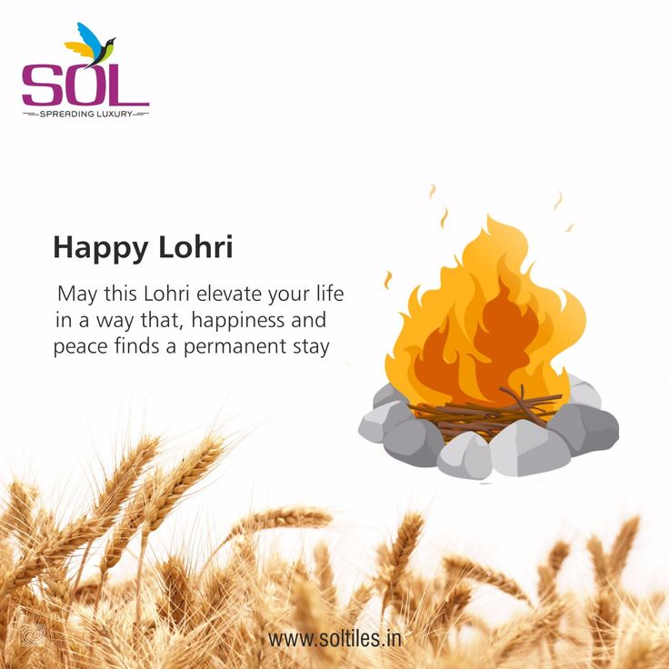 May this Lohri elevate your life in a way that, happiness and peace finds a permanent stay - Happy Lohri #SolTiles #Lohri #Festival #Wishes #Celebration #Fun #Joy #India