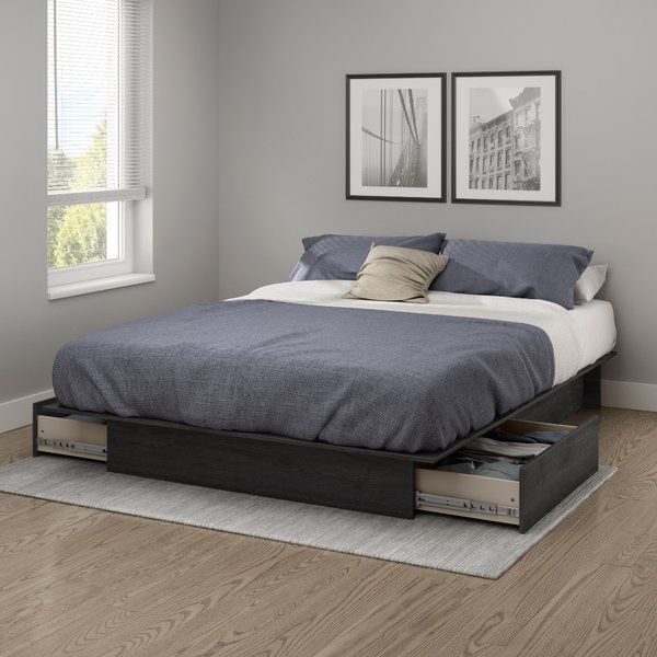 Step One Full Queen Platform Bed With Drawers Platform Bed With