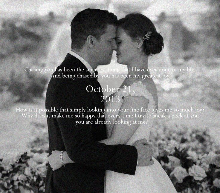 Happy anniversary, Temperance Brennan and Seeley Booth.