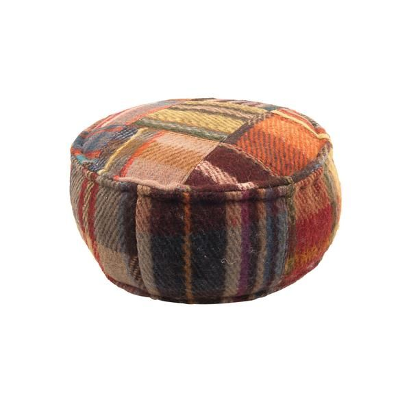 Recycled Blanket Pouffe
