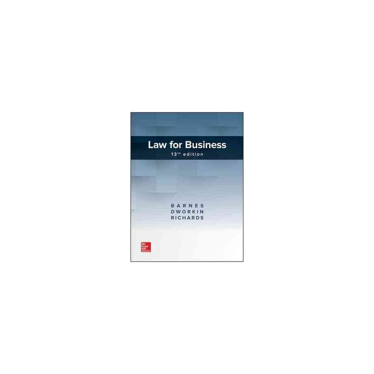 Law for Business (Hardcover) (A. James Barnes & Terry M. Dworkin & Eric Richards)