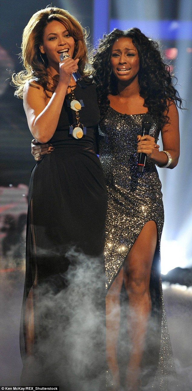 Alexandra Burke wept as she performed with her idol Beyonce on The X Factor 2008…