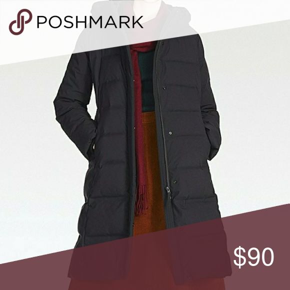 Womens Uniqlo down coat Black coat worn maybe 5 times purchased 2017 december. Too big for me. Uniqlo Jackets & Coats Puffers