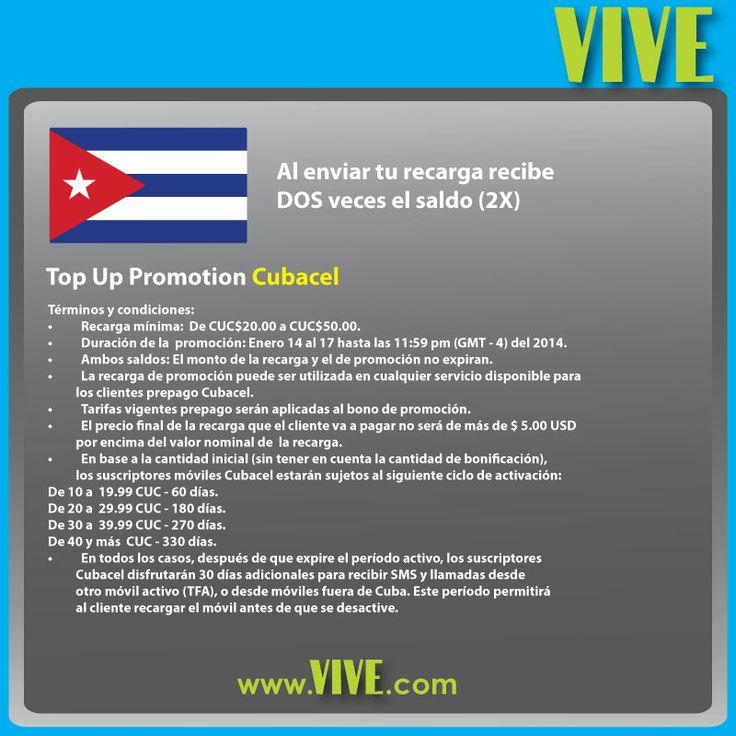 DOBLE saldo en tu #recarga #Cubacel, del 14 al 17 de enero #recharge