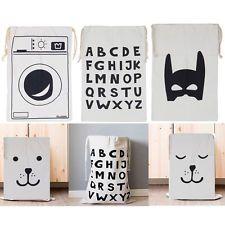 Children's Room Toys White Canvas Pouch Storage Bag Simple Home Canvas Bag