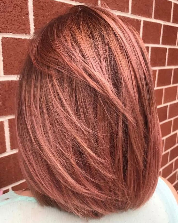 Solid Rose Gold Hair Color Rose Gold Gold Hair Colors Gold Hair