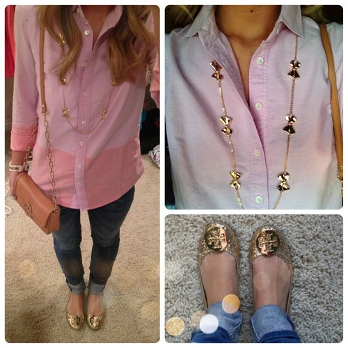 OOTD Top & necklace: J.Crew Jeans: William Rast  Purse & shoes: Tory Burch