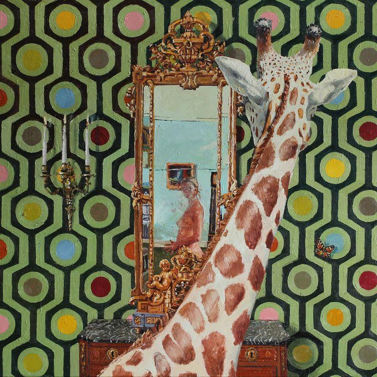 Tor-Arne Moen, 2013.  The Others Gaze | 170x170 cm | Oil on canvas.