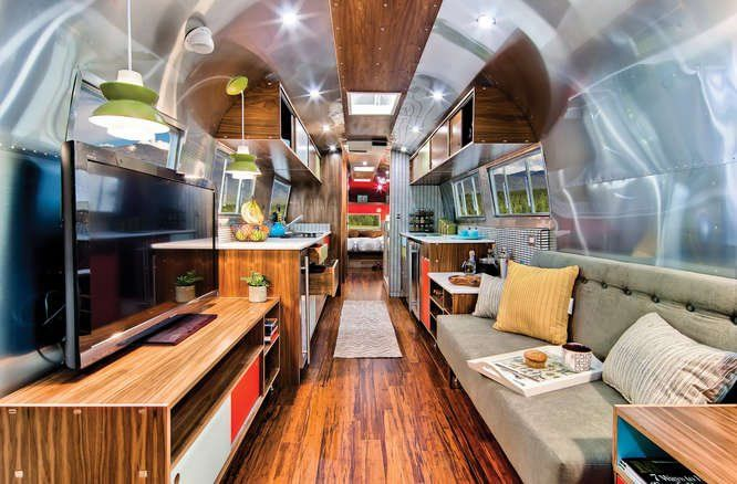 Super rare 40' Airstream - I'm drooling over the style of this remodel