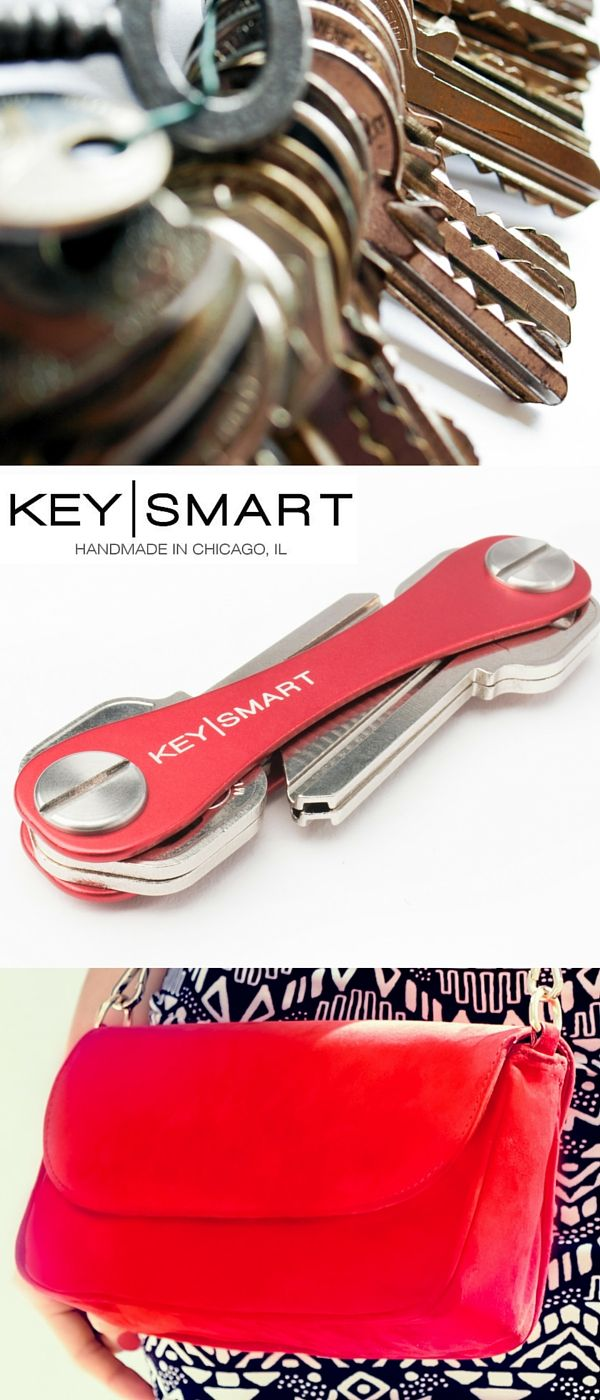 Your keys shouldn't take up much room in your purse! With the Key Smart, they wont! This key organizer will fit up to 100 keys, and it easily fits into pouches within your purse making it super convenient to find! Use their August discount code FALL15 by November 30, 2015 for 15% off everything.