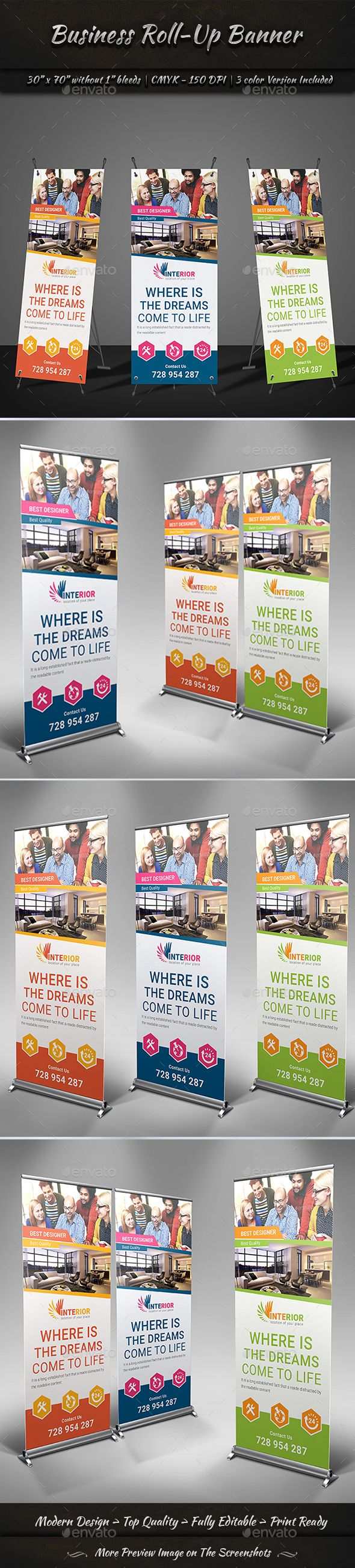 Roll-Up Banner Volume 2 by GraphicShaper Business Roll-Up Banner Templates is a ...