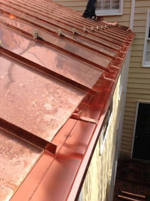 copper roof | Traditional standing seam copper roofing