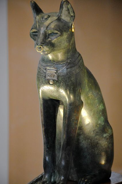 The sacred representation of the goddess Bastet ---------------------------------------- Bronze statue from Saqqara, Egypt (Late Period, after 600 BC) - also known as the Gayer-Anderson cat, after its donor to The British Museum.