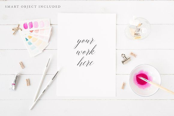 @newkoko2020 Watercolour artist mock up - Pink A4 by White Hart Design Co. on @creativemarket #mockup #mockups #set #template #discout #quality #bulk #buy #design #trend #graphic #photoshop #branding #brand #business #art #design #buymockup #mockuptemplate