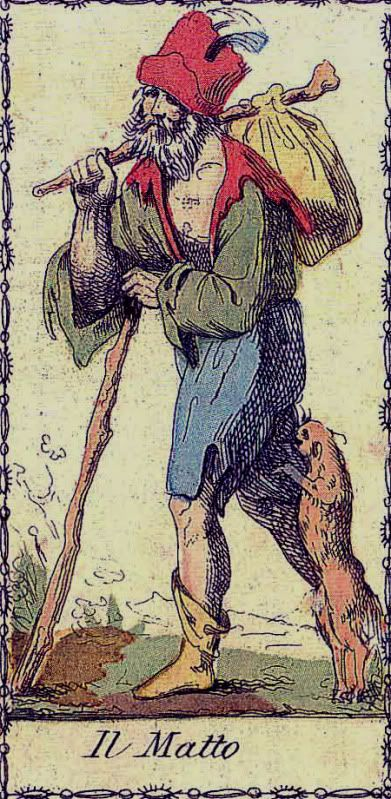 Matto (Fool) - Neoclassico Tarot [Similarities to Saint Lazarus, Papa Legba, etc.]