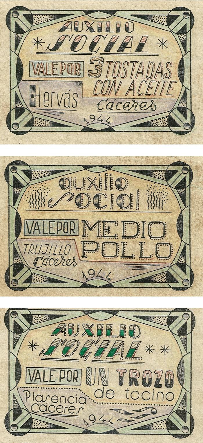 Cupones de Auxilio Social, 1937-1944.: Visual Vii, De Auxilios, Cuponing De, Vintage Ads, Auxilios Social