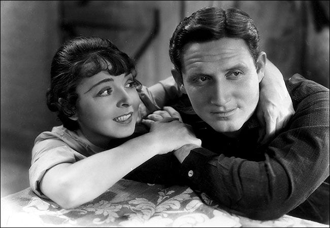 Colleen Moore and Spencer Tracy in The Power and The Glory 1933