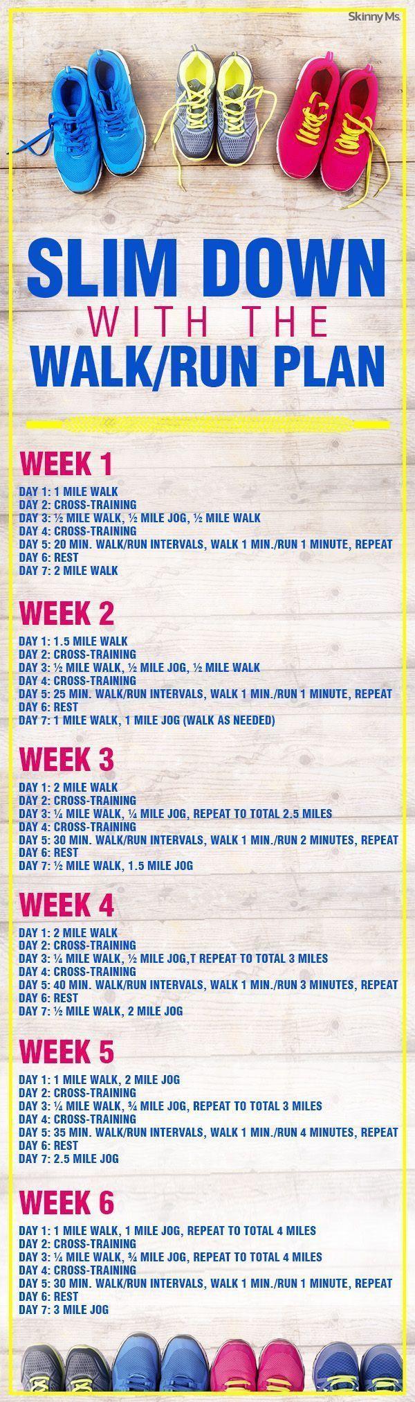 Slim Down with the Walk/Run Plan! #walkrunplan #running #beginnerworkouts