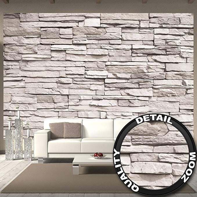 Wallpaper White Stonewall Wall Picture Decoration Stone Wallpaper 3d Stone Wall White Stone Optic St Stone Wallpaper Stone Wall Cladding Faux Stone Wallpaper