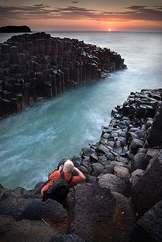 Fingal Head Basalt columns, Port Stephens, NSW. A freephotoguide to the location