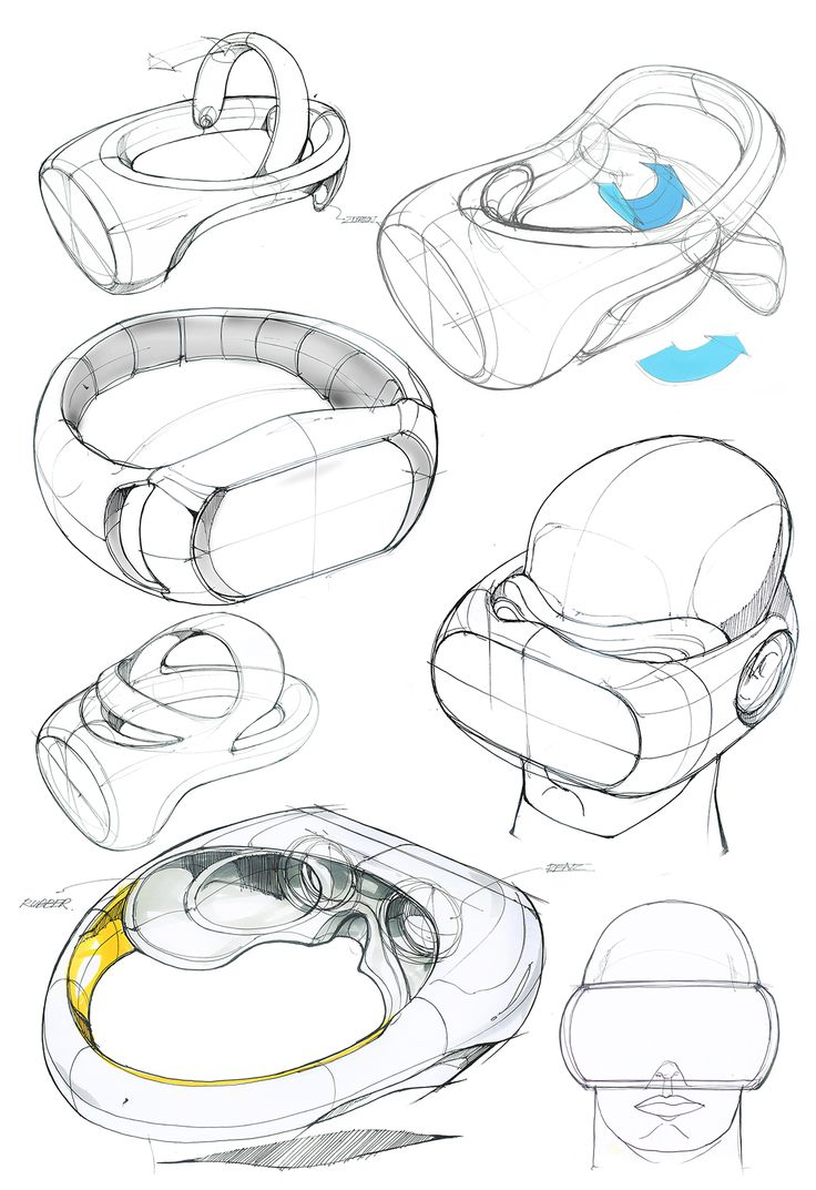 Virtual Reality Head-mounted Display Concept on Behance