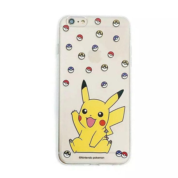 capinha capa case iphone 6 6s pokemon pikachu