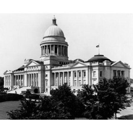 Facade of a government building State Capitol Building Little Rock Arkansas USA Canvas Art - (18 x 24)