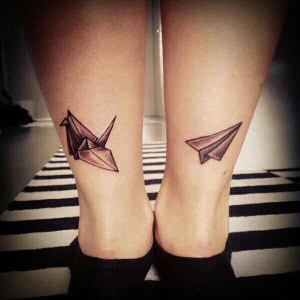 Origami and paperplane