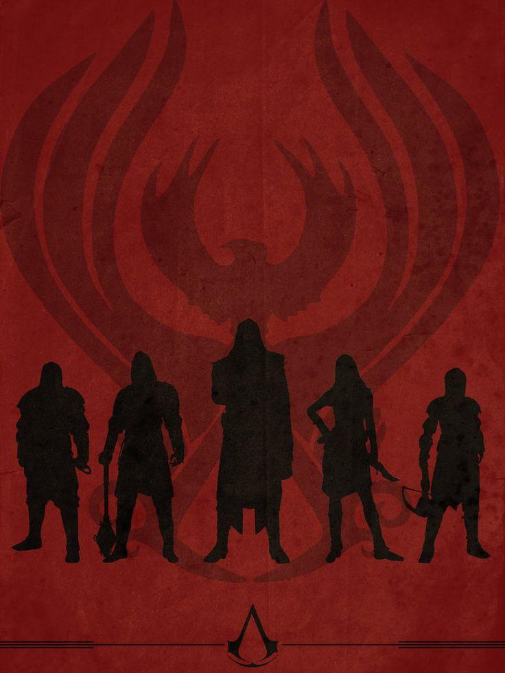 Assassin's Creed Brotherhood minimalist poster