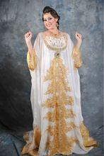 Neue Ankunft Appliques Sequins Dubai Kaftan Abaya Kleider Arabisch Kleidung mit Langen Ärmeln Abendkleid(China (Mainland))