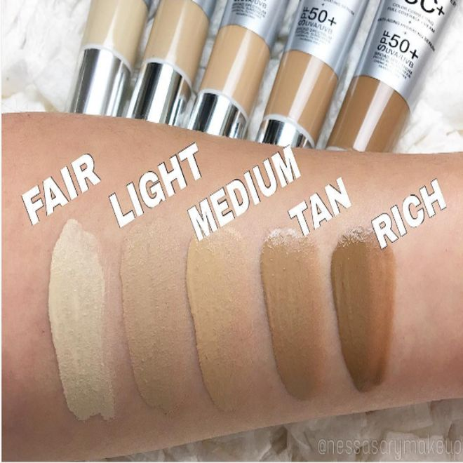 26. IT Cosmetics Your Skin But Better CC Cream is a full-coverage liquid foundation that color-corrects as it works to prevent aging and give you sun protection. Damn!