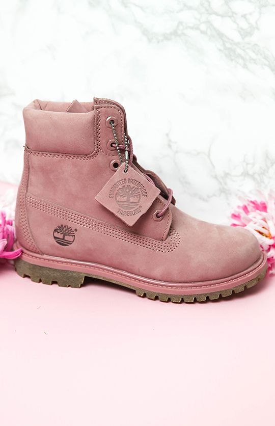 Elegant Fashion Timberland Womens Slim Premium 6 Inch Boots Boots Pink Nubuck