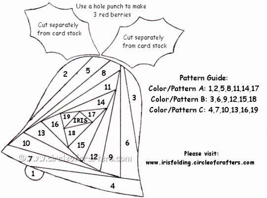 17 Best Images About Christmas Iris Folding On Pinterest