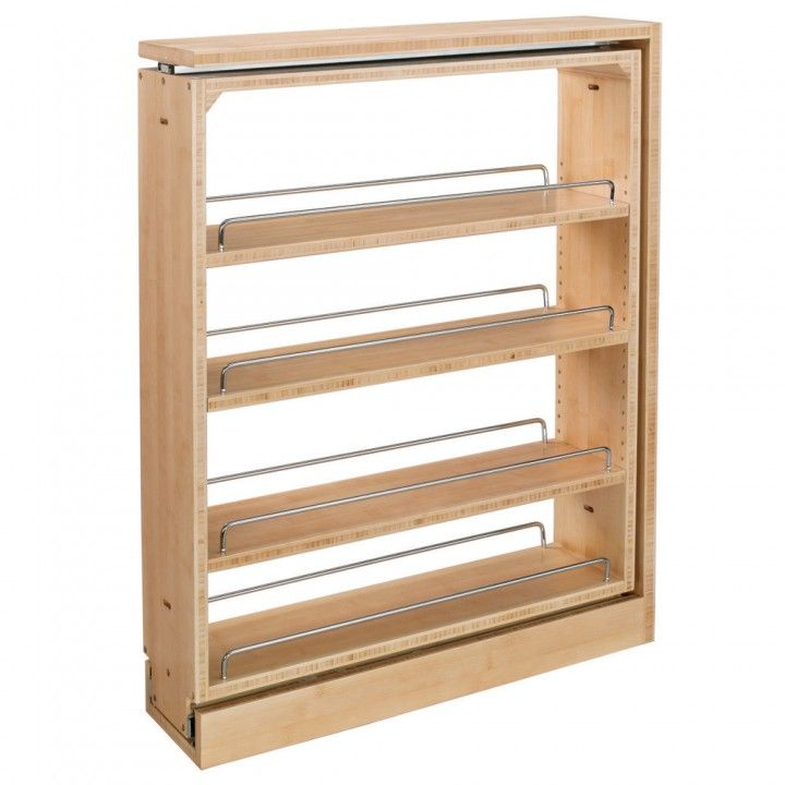 Rev A Shelf Filler Pullout Organizer W/Adjustable Shelves For Base Cabinets  (432 BF Series)