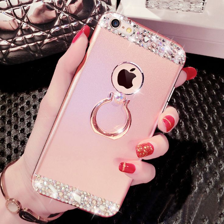Rose gold iphone 8 7 and plus diamond metal protective