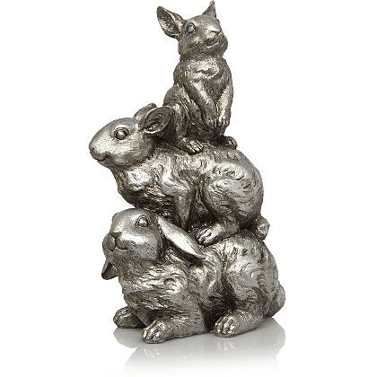 Family of Rabbits Ornament - Silver   Home & Garden   George