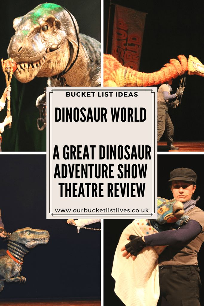 Dinosaur World. A great dinosaur adventure show touring the UK. Theatre review for children. Kid friendly. #dayout #family #theatre #travel