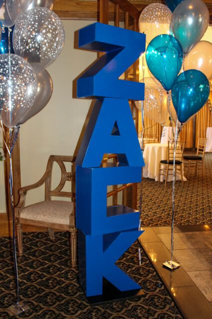 3D Name Sign in Board 3D Name Bar Mitzvah Sign in Board