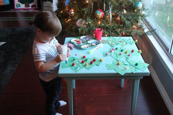 Christmas Tree Decorating Creative Table ‹ Mama. Papa. Bubba.Mama. Papa. Bubba.