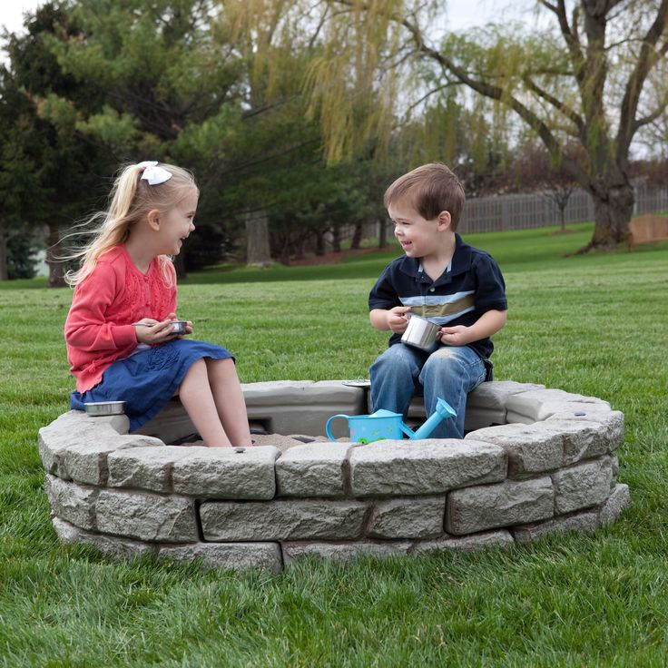 Have to have it. RockLock Faux Stone Round Sandbox Kit $249.99