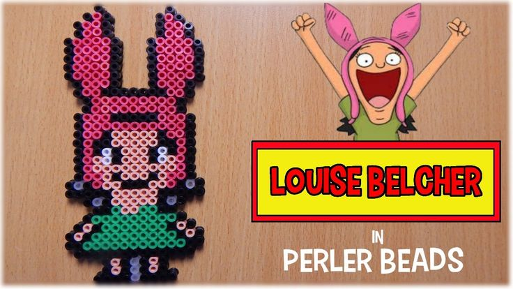 Perler Beads Louise Belcher (Bob's Burgers) - YouTube