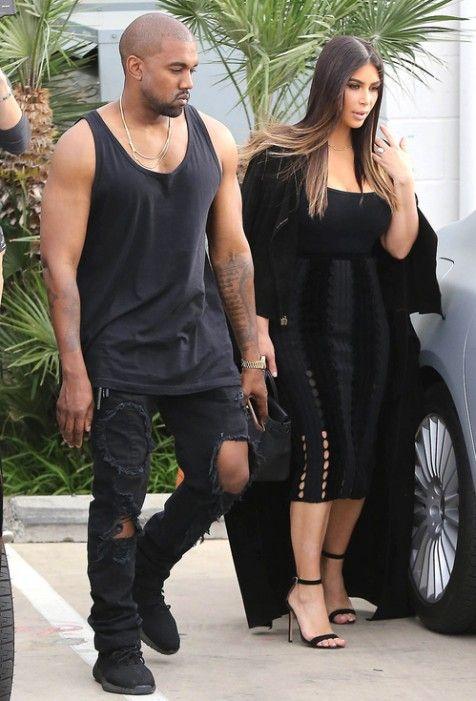 A sintonia de Kim Kardashian e Kanye West