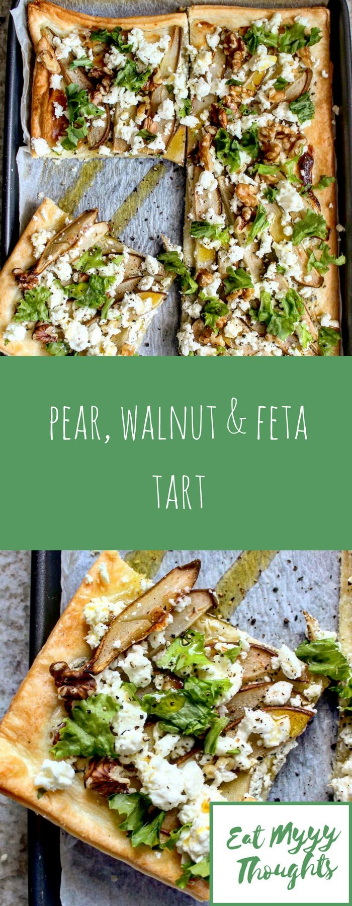Pear, Walnut and Feta Tart - the perfect dish for autumn, but great at any time of year to use up pears that are a little past their best. It's also very quick and easy. Suitable for vegetarians.