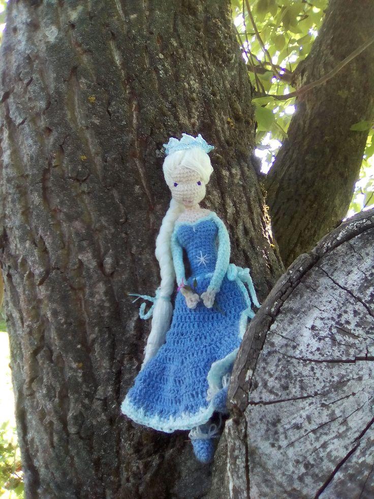 Háčkovaná Elsa 💜  Crochet Doll Frozen Inspired Princess Elsa