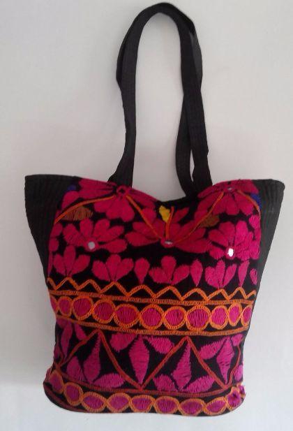 Buy Hand embroidered basket Bag