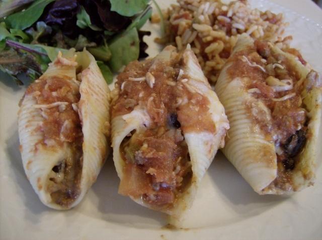 Aleas Enchilada Stuffed Pasta Shells