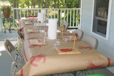 Want to make a funky paper table cover for a dinner party.