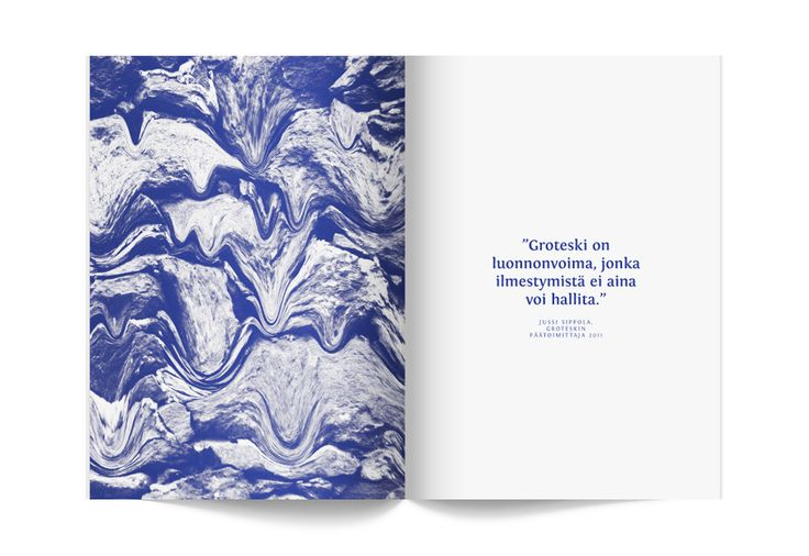 spread from Groteski magazine (issue No. 1) / designed by Antton Nuotio