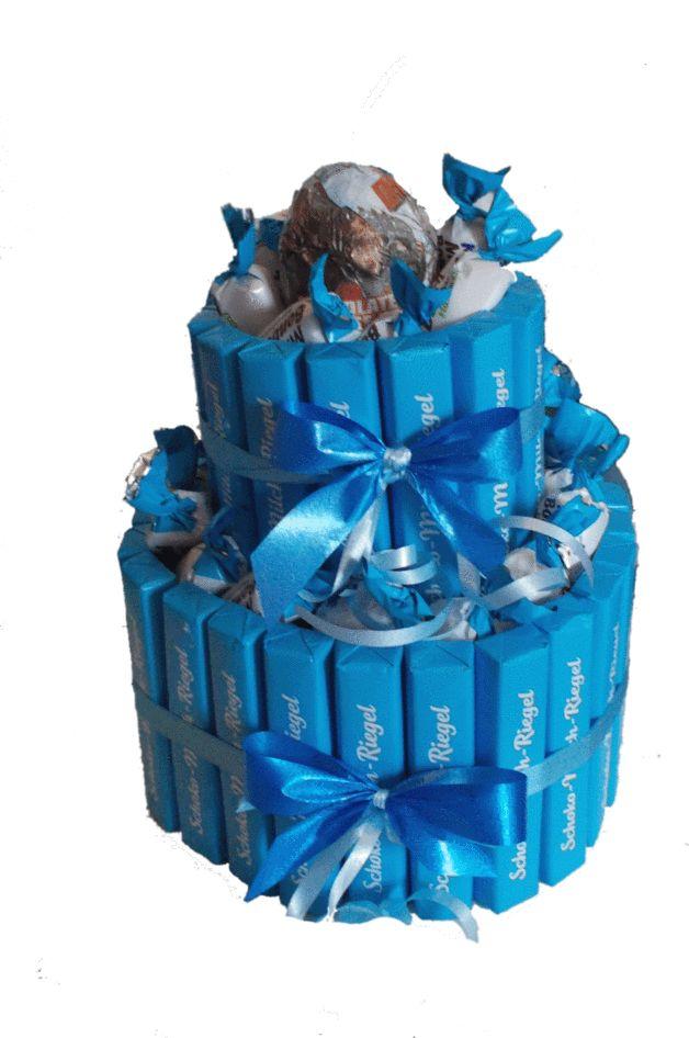 Schokolade & Süßigkeiten - Schokoriegeltorte - das perfekte Geschenk - ein Designerstück von Anja-324 bei DaWanda