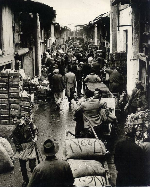 Gazi area in Athensm vegetable market - 1930's